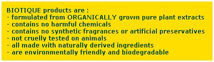 Biotique products