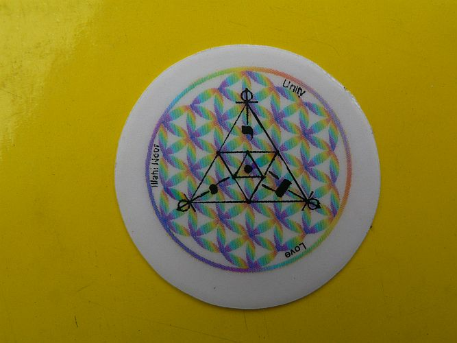 <b>STICKER FLOWER OF LIFE</B><BR>FORM WAVES<BR>diameter : 3 cm