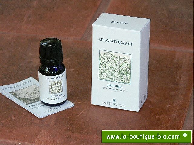 <B>HE - GERANIUM</B><br>Pelargonium Graveolens<BR>NAT - CULTURE BIO<br>10 ml
