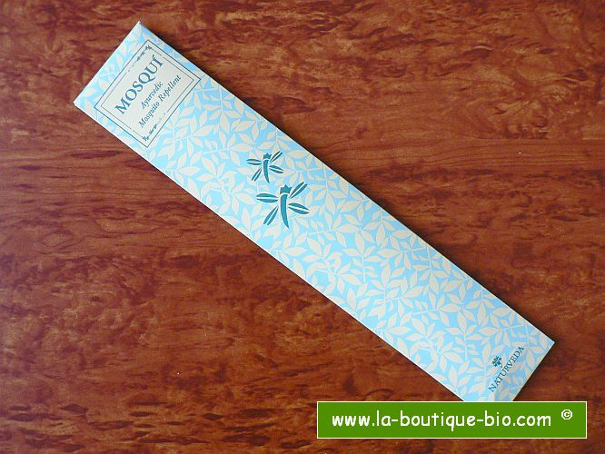 <B>ANTI-MOUSTIQUE</B><BR>NAT - MOSQUI INCENSE STICKS<BR>12 BATONS POUR INTERIEUR