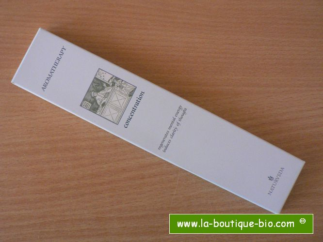 <b>CONCENTRATION</b><br>NAT - AROMATHERAPIC INCENSE<BR>WITH ESSENTIAL OILS<br>12 sticks