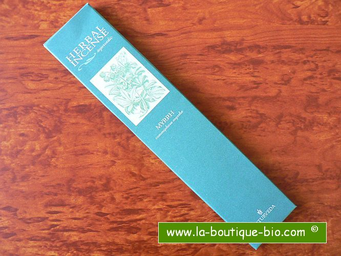 <b>MYRRH</b><br>NAT - AYURVEDIC INCENSE<BR>Commiphora Myrrha<br>12 sticks