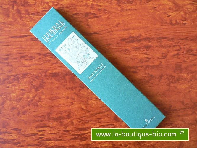 <b>PATCHOULI</b><br>NAT - AYURVEDIC INCENSE<BR>Pogostemon Patchouli<br>12 sticks