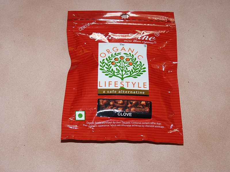 <b>CLOVES</b><br>ORGANIC CULTIVATION CERTIFIED<br>ECO - CLOVES<BR>50 grs