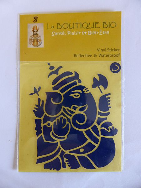 <b>STICKER GANAPATI bleu</B><BR>STICKER GANAPATI blue - 8 <BR>