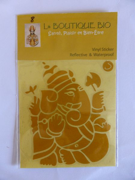 <b>STICKER GANAPATI jaune</B><BR>STICKER GANAPATI yellow - 8 <BR>