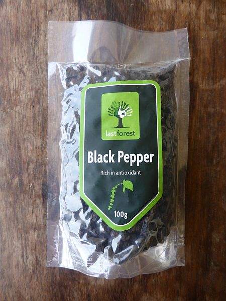 <b>BLACK PEPPER WHOLE</b><br>JEEVA - WHOLE BLACK PEPPER<BR>Piper Nigrum - Milagu<br>ORGANIC AND WILD<BR>100 grs