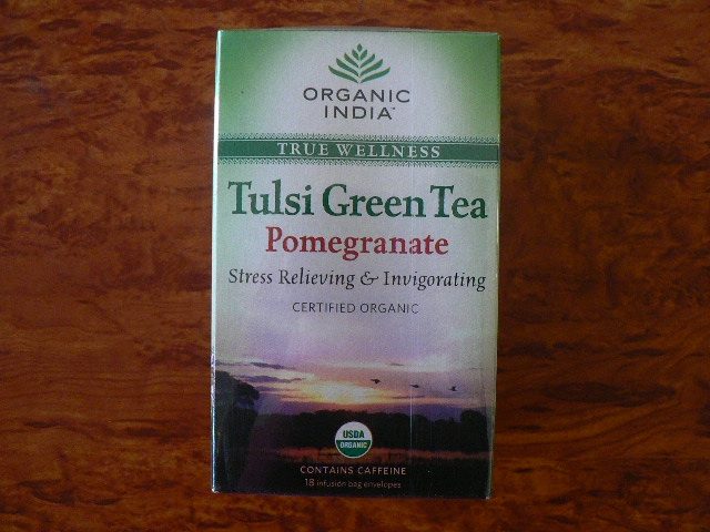 <B>TULSI POMEGRANATE GREEN TEA</B><BR>OI - TULSI POMEGRANATE GREEN TEA<BR>ORGANIC CERTIFIED<BR>18 bags x 1.8g