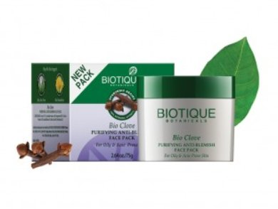<b>ANTI BLEMISH FACE PACK</b><br>BIO CLOVE OIL AND WILD TURMERIC<br>75 grs