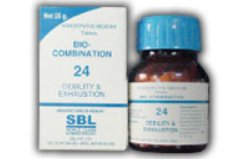 <b>24 - Bio Combination </B><br><b>DEBILITY AND EXHAUSTION</B><br>net 25g - SBL
