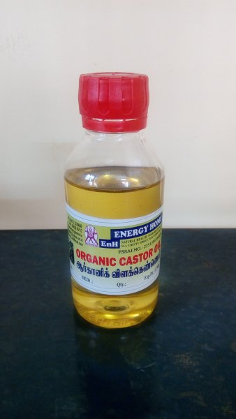 <b>ORGANIC CASTOR OIL</b><br>Castor oil<BR>PET bottle - 100ml