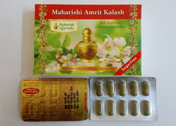 <b>MAHARISHI AMRIT KALASH - M4 TABLETS</B><BR>MAHARISHI AMRIT KALASH - full spectrum natural antioxidant - M4 TABLETS<BR>1 blister of 10 tablets